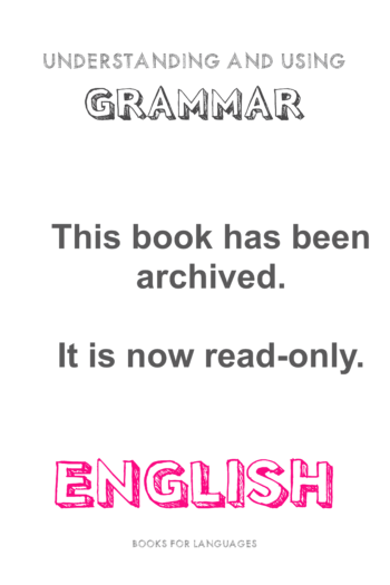 Cover image for ARCHIVED: English Grammar A1 Level - V1